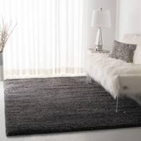 """Safavieh California Cozy Plush Shag Dark Grey/ Charcoal Rug - 5'3"""" x 5'3"""" square"""