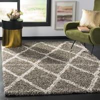 Safavieh Hudson Shag Grey/ Ivory Rug - 5' Square