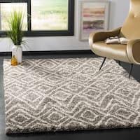 Safavieh Hudson Shag Grey/ Ivory Rug (7' Square)