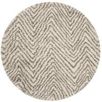 Safavieh Hudson Shag Ivory/ Grey Rug - 7' Round