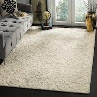Safavieh Handmade Blossom Ivory/ Grey Wool Rug - 6' x 6' Square