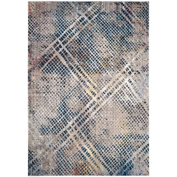 Safavieh Monray Blue/ Multi Polyester Rug (7' Square)