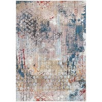 Safavieh Monray Blue/ Multi Polyester Rug - 7' Square