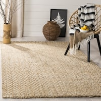 Safavieh Hand-Woven Natural Fiber Ivory/ Natural Jute Rug - 6' x 6' Square