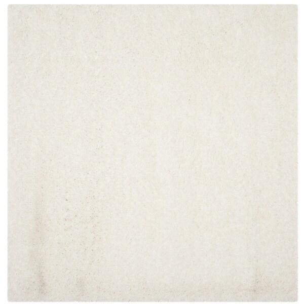 Shop Safavieh Polar Shag White Fluffy Silken Rug