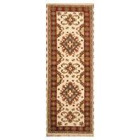 Handmade Herat Oriental Indo Hand-knotted Kazak Wool Rug (2'10 x 8'2) - 2'10 x 8'2