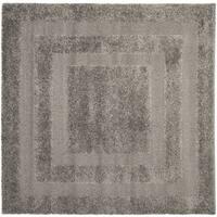 Safavieh Shag Grey/ Grey Rug - 5' Square