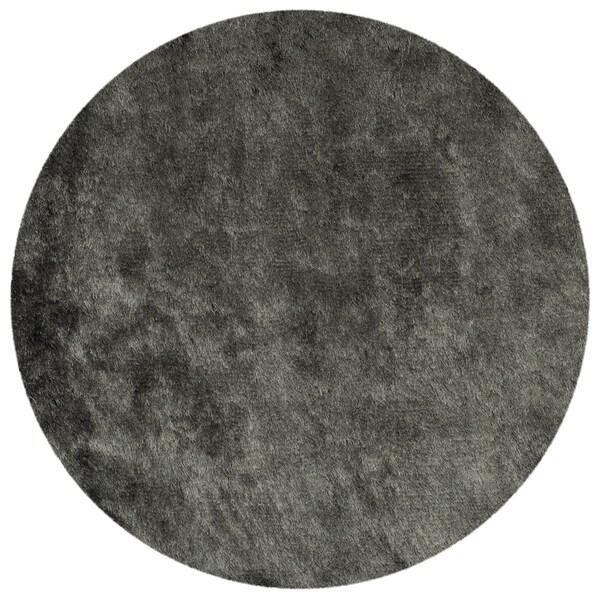 Safavieh Handmade Shag Titanium Polyester Rug (4' Round)