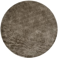 Safavieh Handmade Shag Sable Polyester Rug - 3' x 3' round