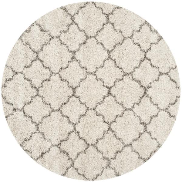 Safavieh Hudson Shag Ivory/ Grey Rug - 8' Round