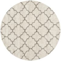 Safavieh Hudson Shag Ivory/ Grey Rug - 9' Round