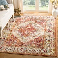 Safavieh Savannah Vintage Bohemian Orange/ Orange Polyester Rug (7' Square)