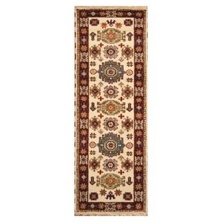Handmade One-of-a-Kind Kazak Wool Rug (India) - 2'10 x 8'3