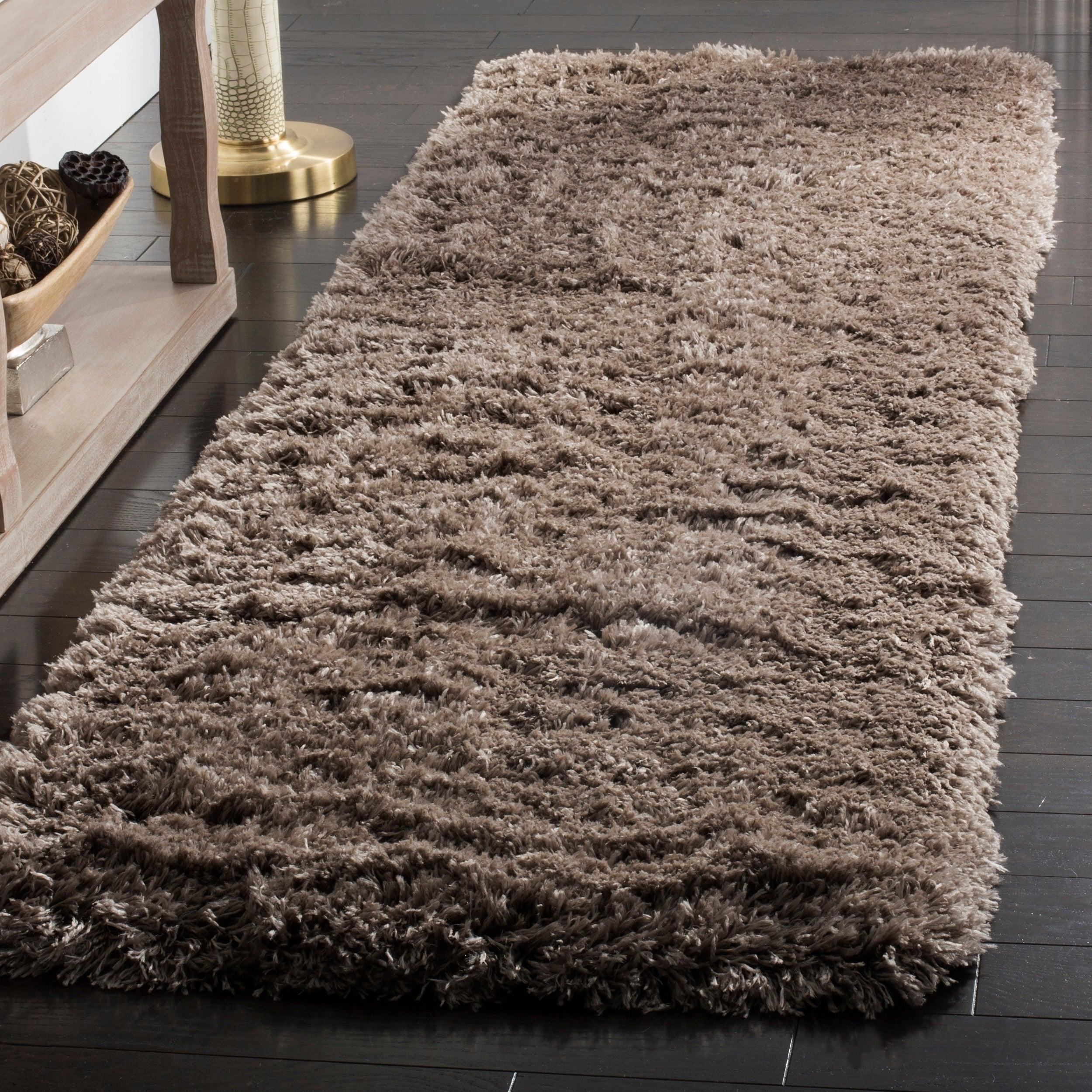 Safavieh Polar Shag Mushroom Polyester Rug (2'3 x 10') (P...