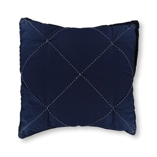 Nautica Lawndale Ruched Navy Throw Pillow