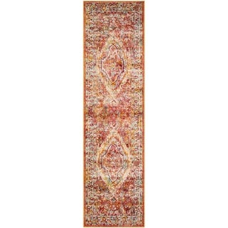 Safavieh Savannah Lamiaa Boho Oriental Polyester Rug (23 x 8 Runner - Orange)