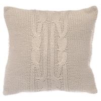 Nautica Cable Knit Khaki Throw  Pillow