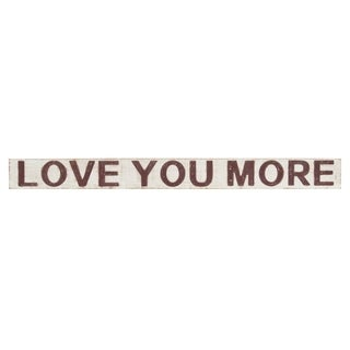 Kate and Laurel Tuttle Love You More 4x42 Wood Wall Art Plaque