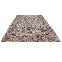Handmade Herat Oriental Persian Hand-knotted Semi-Antique Kerman 1960's Wool Rug (10'2 x 18'4) - 10'2 x 18'4