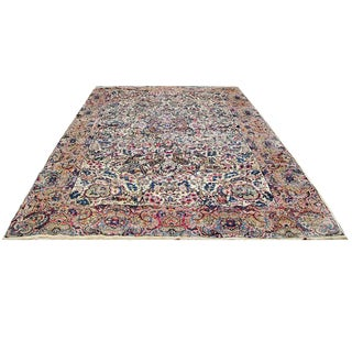 Handmade Herat Oriental Persian Hand-knotted Semi-Antique Kerman 1960's Wool Rug (Iran) - 10'2 x 18'4