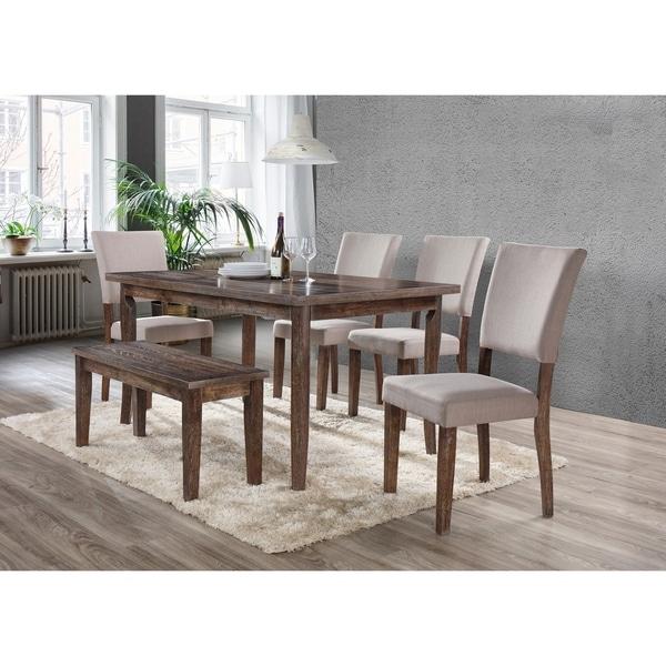 Best Master Furniture Natural Oak 6 Pcs Dining Set