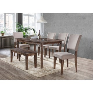 Best Master Furniture Natural Oak 6 Pcs Dining Set