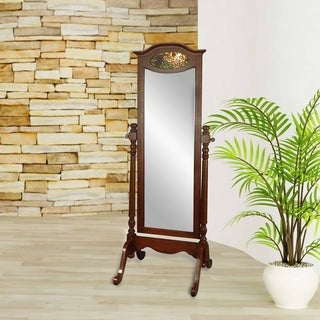 "Springdale by Dale Tiffany 64""H Annesley Standing Mirror with Light - Cherry"