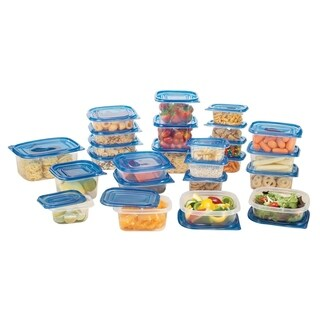 50 Piece Storage Container Set with blue lids