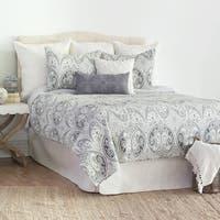 Nazima Gray Full/Queen Quilt Set