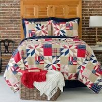 Jackson Printed Patchwork Style Cotton Quilt Set