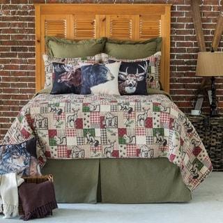 Garrett Printed Patchwork Style Cotton Quilt Set