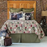 Garrett Printed Patchwork Style Cotton Quilt Set