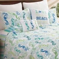 Aquarius Coastal Cotton Quilt Set