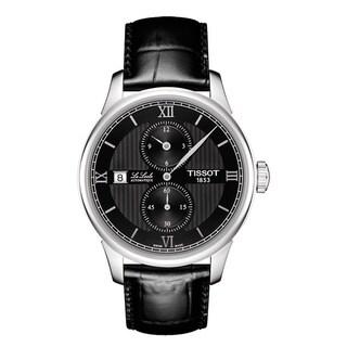 Tissot Men's T006.428.16.058.02 'Le Locle' Black Dial Black Leather Strap Chronograph Swiss Automatic Watch