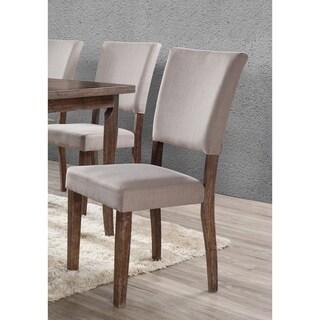 Best Master Furniture Antique Natural Oak Side Chair (Set of 2)