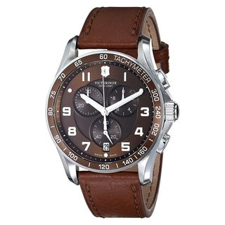 Swiss Army Men's 241653 Chrono Classic XLS Brown Dial Brown Leather Men's Watch