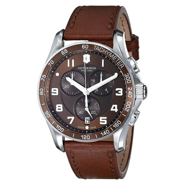 Swiss Army Men's Chrono Classic XLS Brown Dial Brown Leather Men's Watch