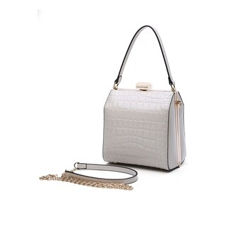 MKF Collection by Mia K. Farrow Fany Evening Handbag and Cross body (Option: White)