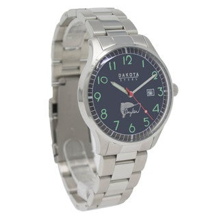 Dakota Men's Classic Angler Watch with Stainless Steel Band