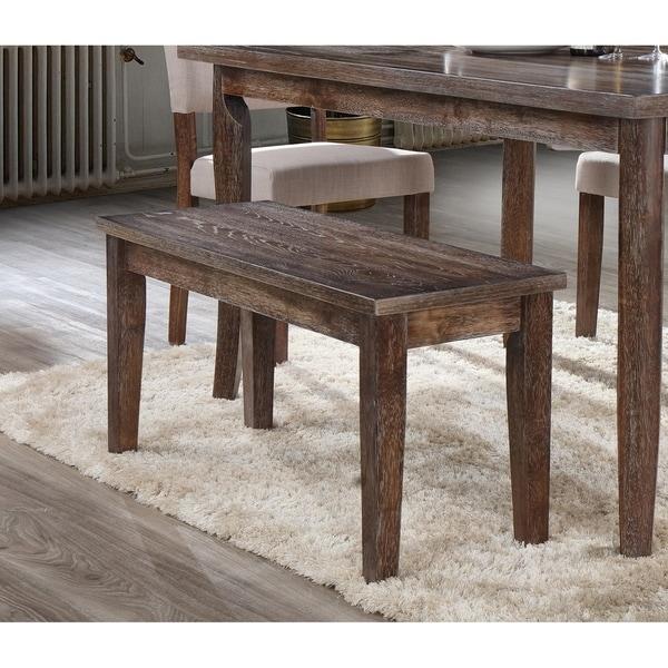 Shop Best Master Furniture Weathered Oak Sleigh: Shop Best Master Furniture Antique Natural Oak Bench