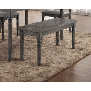 Best Master Furniture Weathered Gray Bench