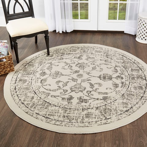 "Home Dynamix Vintage (6'6"") Round Persian Area Rug"