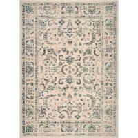 """Home Dynamix Vintage Ivory (26""""x47"""") Traditional Area Rug Scatter"""
