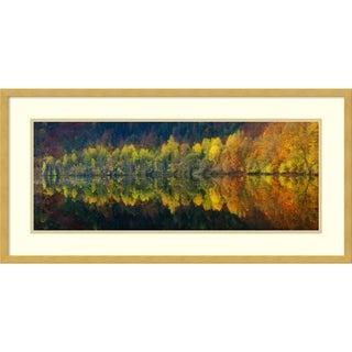 Framed Art Print 'Autumnal Silence' by Burger Jochen 33 x 17-inch