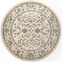 Home Dynamix Vintage Ivory Traditional Area Rug - 6'6 Round