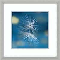 Framed Art Print 'Blue' by Xavier Garci 20 x 20-inch