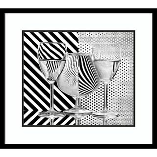 Framed Art Print 'Dots And Stripes' by Aida Ianeva 28 x 25-inch