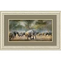 Framed Art Print 'Elephants' by Antonio Grambone 37 x 24-inch
