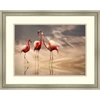 Framed Art Print 'Fighting' by Anna Cseresnjes 26 x 21-inch