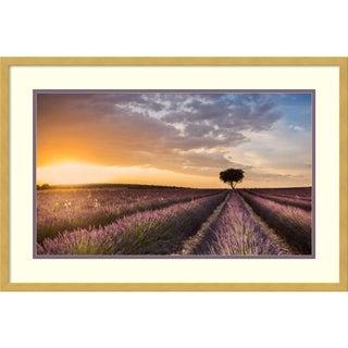 Framed Art Print 'Destination Lavender' by Fran Ros 30 x 20-inch